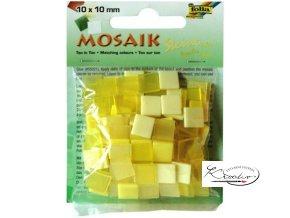 Mozaika plastová 10x10 mm - Žlutá
