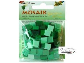 Mozaika plastová 10x10 mm - Zelená