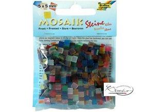 Mozaika plastová 5 x 5 mm - Ledová Mix barev