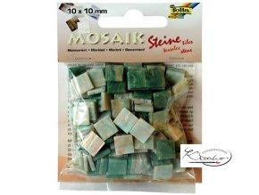 Mozaika plastová 10 x 10 mm - Mramorová Zelený mix
