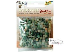 Mozaika plastová 5 x 5 mm - Mramorová Zelený mix