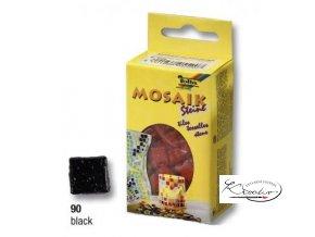 Mozaika skleněná 10 x 10 mm - Černá
