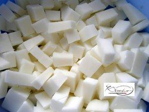 Mýdlová hmota s přídavkem kozího mléka 500g
