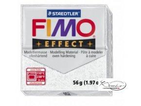 Fimo hmota Effect Glitter - 052 Bílá