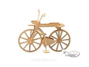 Dřevěná skládačka 3D puzzle - Bicykl