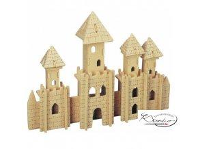 Dřevěná skládačka 3D puzzle - Castle