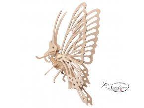 Dřevěná skládačka 3D puzzle - Little Butterfly