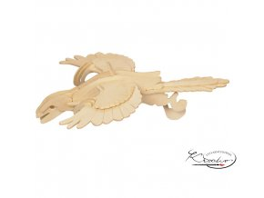 Dřevěná skládačka 3D puzzle - Archaeopteryx