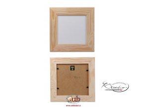 Rámeček dřevo 12x12x2,5cm