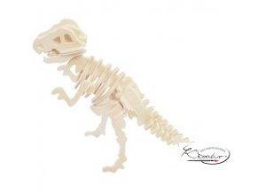 Dřevěná skládačka 3D puzzle - Tyrannosaurus
