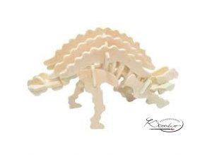 Dřevěná skládačka 3D puzzle - Ankylosaurus