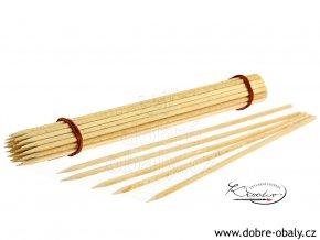 Dřevěné špejle 4 mm x 30 cm