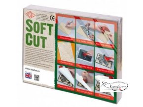 Lino pro linoryt  7,5 x 7,5 cm Soft Cut