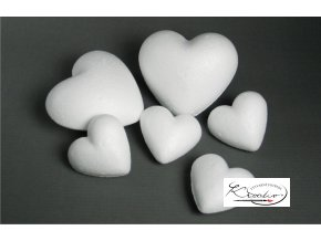 Srdce polystyren 8 cm