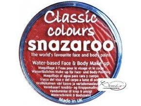 Barva na obličej Snazaroo 18ml - 055 Červená