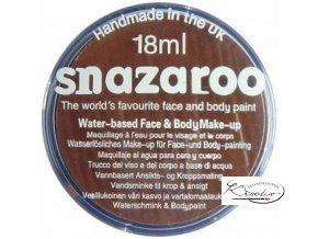 Barva na obličej Snazaroo 18ml - 988 Hnědá tmavá