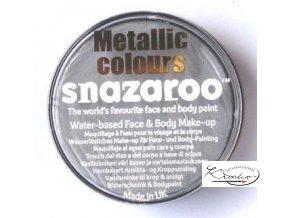 Barva na obličej Snazaroo 18ml - 766 Metalická stříbrná