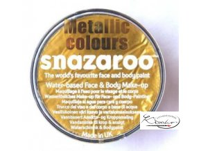 Barva na obličej Snazaroo 18ml - 777 Metalická zlatá