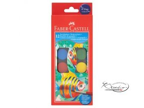 Vodové barvy Faber - Castell 12ks / 30 mm