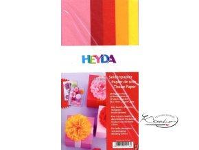 Hedvábný papír 50x70 cm 20g Mix červenožlutý