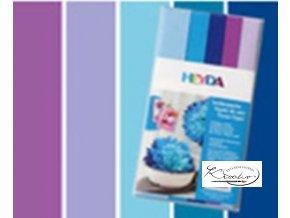 Hedvábný papír 50x70 cm 20g Mix modrofialový