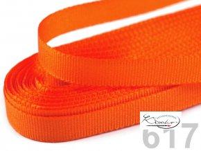 Stuha taftová - 9 mm x 10 m - Oranžová
