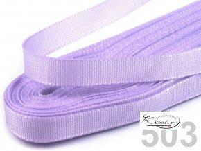 Stuha taftová - 9 mm x 10m - Světle fialová