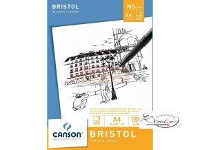 Blok Bristol A4 lepený