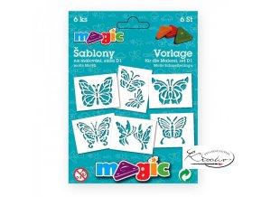 Magic papírové šablony sada D1 - Motýli