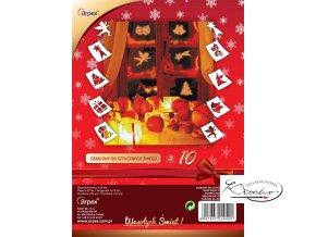 Vánoční papírové šablony 10ks