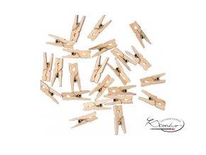 Dřevěný kolíček Natur - 25 mm