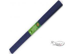 Krepový papír - tmavý modrý 200x50cm