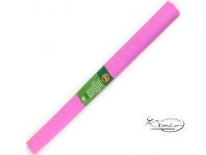 Krepový papír - růžový 200x50cm
