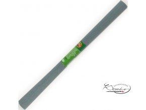 Krepový papír - šedý 200x50cm