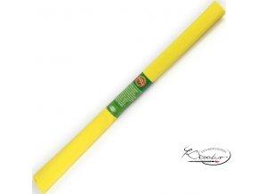 Krepový papír - žlutý 200x50cm