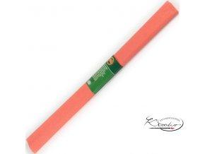 Krepový papír - oranžový 200x50cm