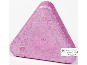 Vosková pastelka Triangle Magique Metallic - růžová metalická