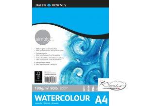 Blok Simply Watercolour A4