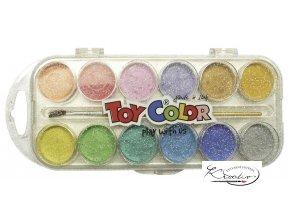 Vodové barvy Toy Color s perletí 12