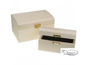 Dřevěná krabička 34600 12,5x7,5x6,4 cm zaoblená