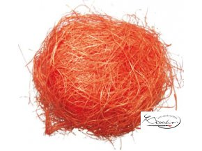 Dekorační sisal 30g - oranžový