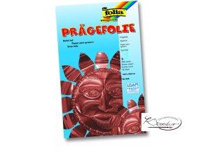 Pragefolie - 18,5 x 29 cm / 3 ks - měděná