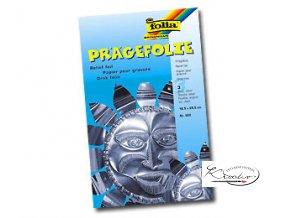 Pragefolie - 18,5 x 29 cm / 3 ks - stříbrná
