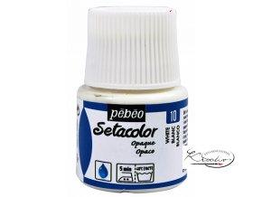 Setacolor Opaque 45ml - Bílá