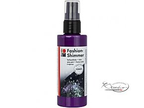 Fashion Spray Shimmer Marabu 100 ml - 596 Třpytivá Lila