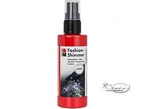 Fashion Spray Shimmer Marabu 100 ml - 531 Třpytivá Červená
