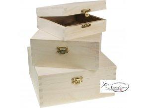 Dřevěná krabička 34687 13x13x5 cm
