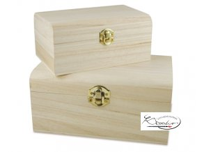 Dřevěná krabička 34618 14x8,5x6 cm