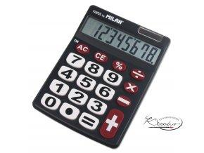 Kalkulačka Milan 8 míst - černá BL