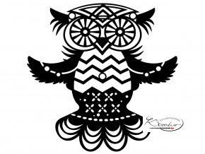 Šablona Silhouette Marabu - Flying Owl 15x15 cm